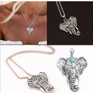 Jewelry - Vintage silver Elephant Pendant Chain Necklace